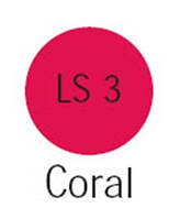 Увлажняющая губная помада, цвет LS 1, свежий розовый, SPF 15,  Locherber / Cosval, Швейцария, натуральная LS 3 -коралл
