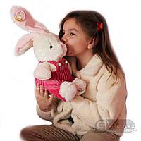Мягкая плюшевая игрушка Зайка в розовых штанах 40*22см