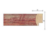 Рамка из деревянного багета 40х50 см db02 - №3 Красный