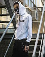 Спортивная кофта с капюшоном / Худи унисекс Billie Eilish Spider белая, фото 1