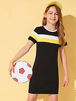 Платье для девочки и мамы короткий рукав спортивное