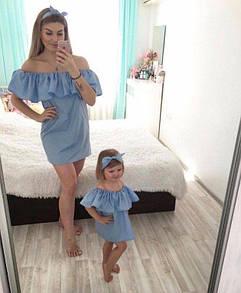 Платье для мамы и дочки от 24 по 60 размер. Индивидуальный фабричный пошив от 1 ед