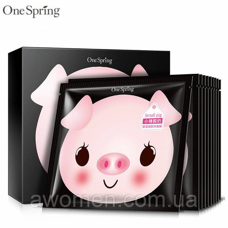 Маска для лица йогуртовая One Spring Piggy Yogurt Refreshing Black 25 g