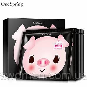 Маска для лица йогуртовая One Spring Piggy Yogurt Refreshing Black 25 g