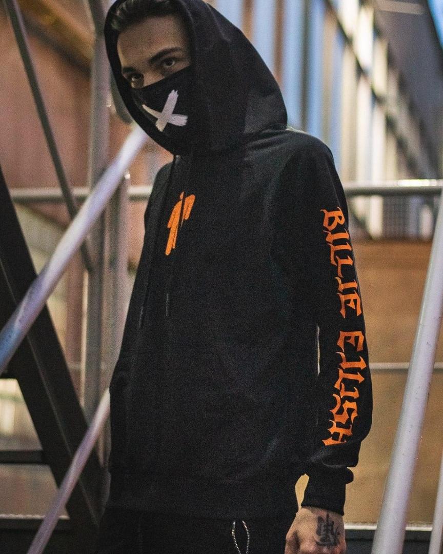 Спортивная кофта с капюшоном / Худи унисекс Billie Eilish Gothic
