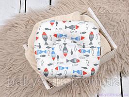 """Подушка для новонароджених """"Кольорові рибки"""""""