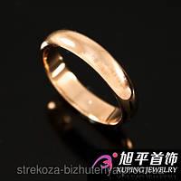 Кольцо обручальное позолоченное