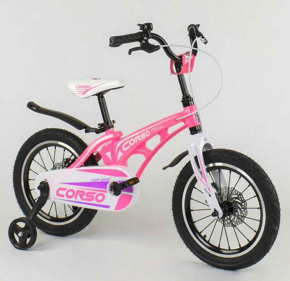 """Детский велосипед """"Corso"""" MG-16 Y 338 16 дюймов, магниевая рама, дисковые тормоза"""