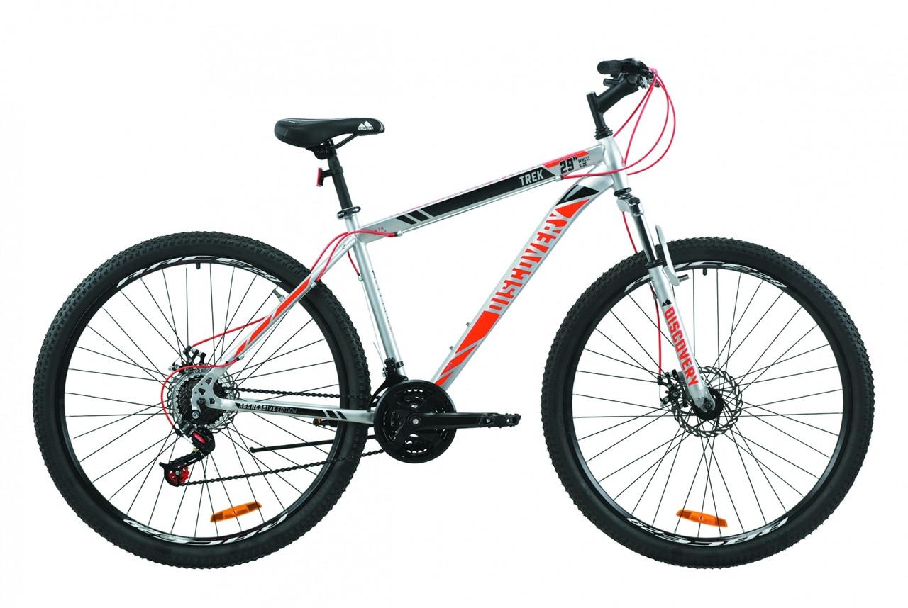 """Велосипед ST 29"""" Discovery TREK AM DD 2020 (серый с красным)"""
