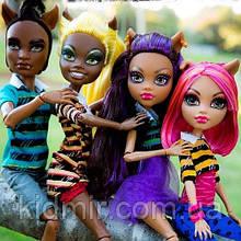 Набір ляльок Monster High Клодін, Хоулін, Клавдія і Клод (Clawdeen, Clawd, Howleen, Clawdia) Монстр Хай