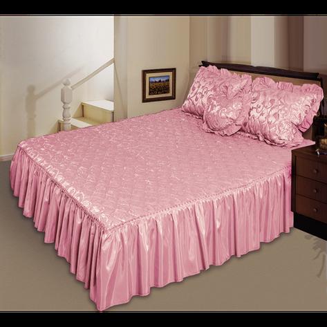 Комплект ТЕП Романс розовый: покрывало, декоративная подушка, подушка сердечко., фото 2