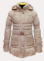 Пальто для девочки на тонком холлофайбере