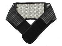 Эластичный бандаж для спины с магнитами XL 113 см  Черный