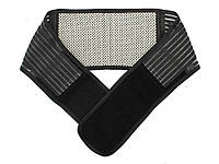 Эластичный бандаж для спины с магнитами L 107 см  Черный
