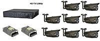 Комплект цифрового видеонаблюдения HD-TVI 1080p на 8 внешних камер, фото 1