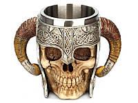 Бокал 3D Череп в римском шлеме 600 мл 19 см х 13 см х 13,5 см