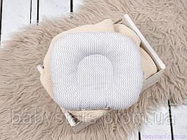 """Анатомическая подушка для новорожденных """"Серый зигзаг"""""""