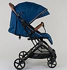"""Коляска прогулочная детская C-1001 """"JOY""""  Синяя , ручка-чемодан, фото 2"""
