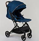 """Коляска прогулочная детская C-1001 """"JOY""""  Синяя , ручка-чемодан, фото 3"""