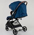 """Коляска прогулочная детская C-1001 """"JOY""""  Синяя , ручка-чемодан, фото 4"""
