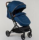 """Коляска прогулочная детская C-1001 """"JOY""""  Синяя , ручка-чемодан, фото 5"""