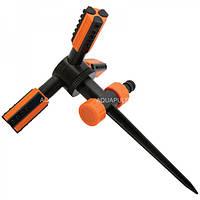 """Ороситель 3 - х рожковый """"TRIO"""" на пластиковой ножке Aquapulse дождеватель"""