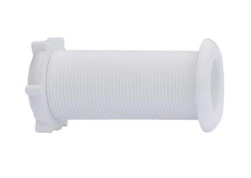 Белый водоотливной штуцер 22.7х78 мм под распираемые пробки