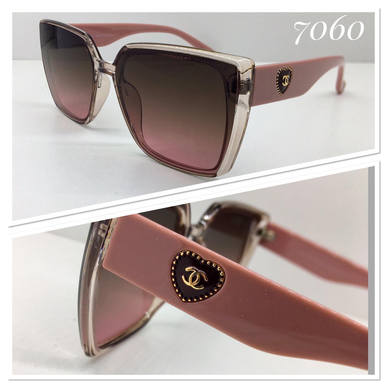Очки женские солнцезащитные пудровые
