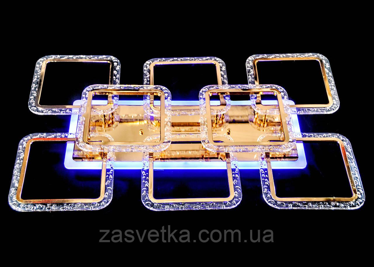 Люстра  светодиодная MX2518-6+2L FG золото