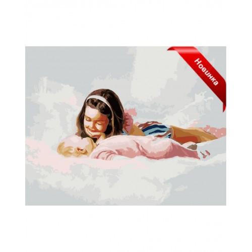 Картина по номерам на холсте Menglei Сестры