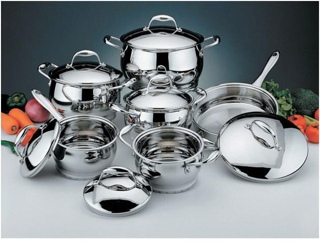 Кухонная посуда: скороварки, ведра, гусятницы, кастрюли, казаны, баки