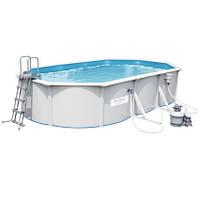 Bestway Сборный бассейн Bestway Hydrium 56369 (610х360х120 см) с песочным фильтром, лестницей и тентом