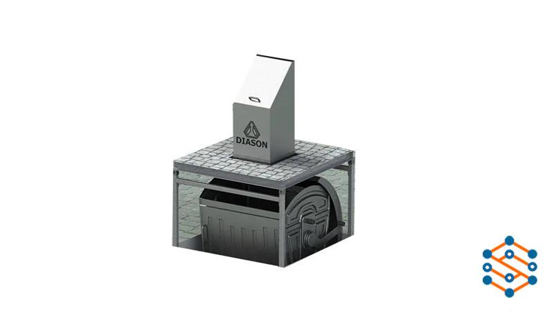 Подземная система для сбора мусора на 1 мусорный контейнер