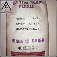 Натрий гидроксид, E524 ( технический, 99,20% ) [ Китай ] заводской мешок 25 килограмм