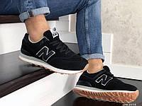 Мужские кроссовки в стиле New Balance 574, замша, пена, черные 45 (28,9 см)
