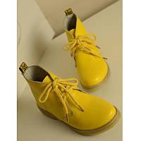 Кожаные ботинки яркие цвета
