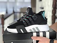 Мужские кроссовки в стиле Adidas Equipment adv 91-18, сетка, кожа, пена, черные с белым *** 41 (26,2 см)