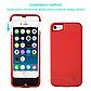 Чехол павербанк для Iphone 7 на 2500 мАч красный, фото 2