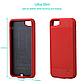 Чехол павербанк для Iphone 7 на 2500 мАч красный, фото 3
