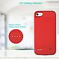 Чехол павербанк для Iphone 7 на 2500 мАч красный, фото 4