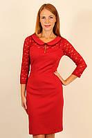 Трикотажное облегающее платье 42-48 р ( красный, золото, морская волна )
