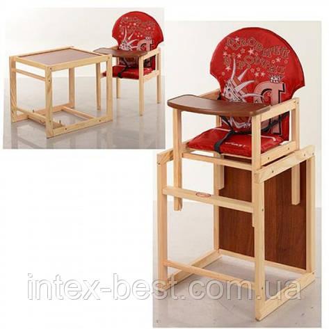 Детский деревянный стульчик для кормления M V-010-21-4, фото 2