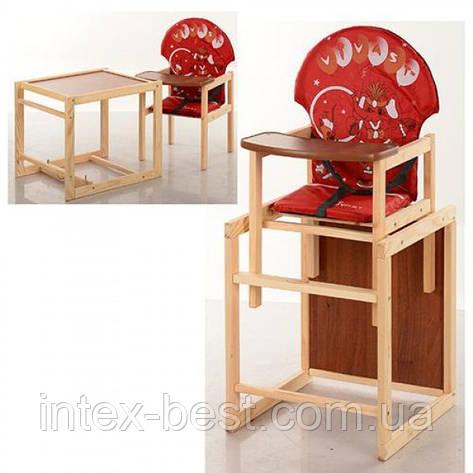 Детский деревянный стульчик для кормления M V-010-21-5, фото 2