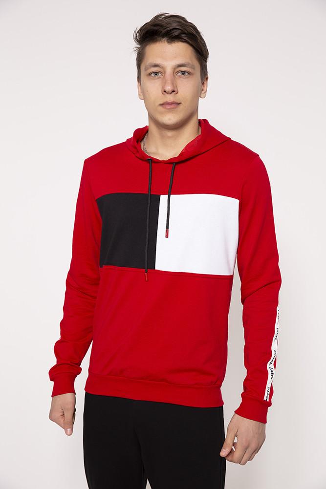 Худи мужское 119R050(740) цвет Красный
