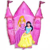 Шар Замок с принцессами Диснея 104х88см (гелий)
