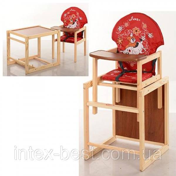 Детский деревянный стульчик для кормления M V-010-21-7
