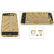 Средняя часть корпуса для APPLE iPHONE 4 золотая с кристаллами Swarovski