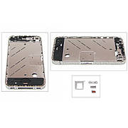 Средняя часть корпуса для APPLE iPHONE 4 серебристая с кристаллами Swarovski