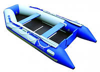 Моторная килевая надувная лодка Voyager 310 люкс (синяя)