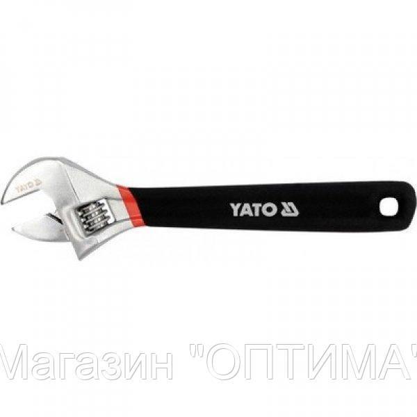 Ключ разводной с резиновой ручкой Yato l = 375 мм
